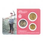 (EUR18.MK.2013.10.000000002) Mini-kit 10 cent, 50 cent et 2 euro Saint-Marin 2013 BU - Arbalétriers Verso