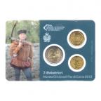(EUR18.MK.2013.7.000000002) Mini-kit 10 cent, 20 cent et 2 euro Saint-Marin 2013 BU - Arbalétriers Verso