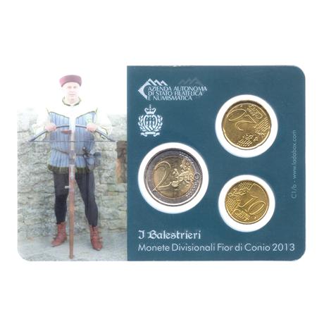 (EUR18.MK.2013.8.000000002) Mini-kit 10 cent, 20 cent et 2 euro Saint-Marin 2013 BU - Arbalétriers Verso