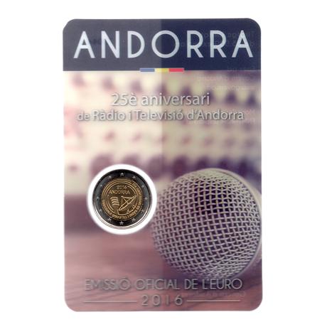(EUR24.ComBU&BE.2016.200.BU.COM2.cp5.73044) 2 euro Andorre 2016 BU - Ràdio i Televisió d'Andorra Recto