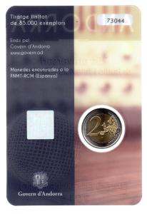 (EUR24.ComBU&BE.2016.200.BU.COM2.cp5.73044) 2 euro Andorre 2016 BU - Ràdio i Televisió d'Andorra Verso (zoom)
