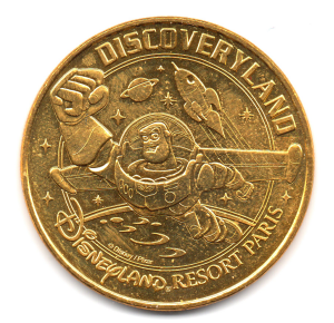 (FMED.Méd.tourist.2017.CuAlNi2.-1.000000002) Tourism token - Discoveryland Obverse (zoom)