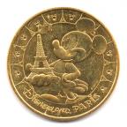 (FMED.Méd.tourist.2017.CuAlNi2.1.1.000000002) Jeton touristique - Mickey et la Tour Eiffel Avers