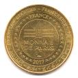 (FMED.Méd.tourist.2017.CuAlNi2.1.1.000000002) Jeton touristique - Mickey et la Tour Eiffel Revers