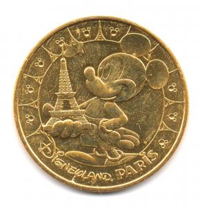 (FMED.Méd.tourist.2017.CuAlNi2.1.1.000000002) Tourism token - Mickey & Eiffel Tower Obverse (zoom)