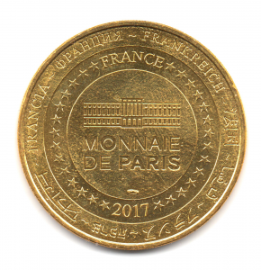 (FMED.Méd.tourist.2017.CuAlNi2.1.1.000000002) Tourism token - Mickey & Eiffel Tower Reverse (zoom)