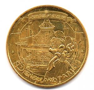 (FMED.Méd.tourist.2017.CuAlNi2.2.000000002) Lancelot's merry-go-round, in Disneyland Paris Obverse (zoom)