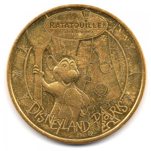 (FMED.Méd.tourist.2017.CuAlNi3.2.000000002) Ratatouille [] The Adventure, in Disneyland Paris Obverse (zoom)