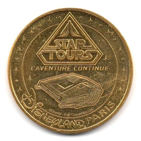 (FMED.Méd.tourist.2017.CuAlNi3.3.000000002) Jeton touristique - Star Tours Avers