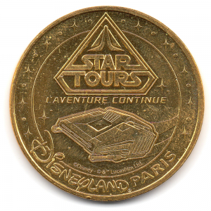 (FMED.Méd.tourist.2017.CuAlNi3.3.000000002) Star Tours, in Disneyland Paris Obverse (zoom)