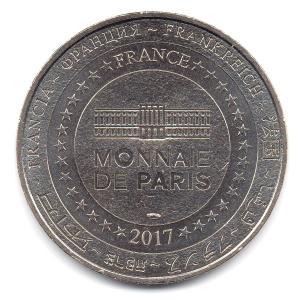 (FMED.Méd.tourist.2017.CuNi2.000000002) Tourism token - French Mint Reverse (zoom)