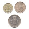 (LOT.W135.100à1000.1976.1.000000001) Série 1 Franc à 10 Francs Luxembourg 1976 Revers