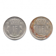 (LOT.W135.100.1986et1987.1.000000001) 1 Franc Grand Duke Jean of Luxembourg, initials IML on reverse (Reverses)