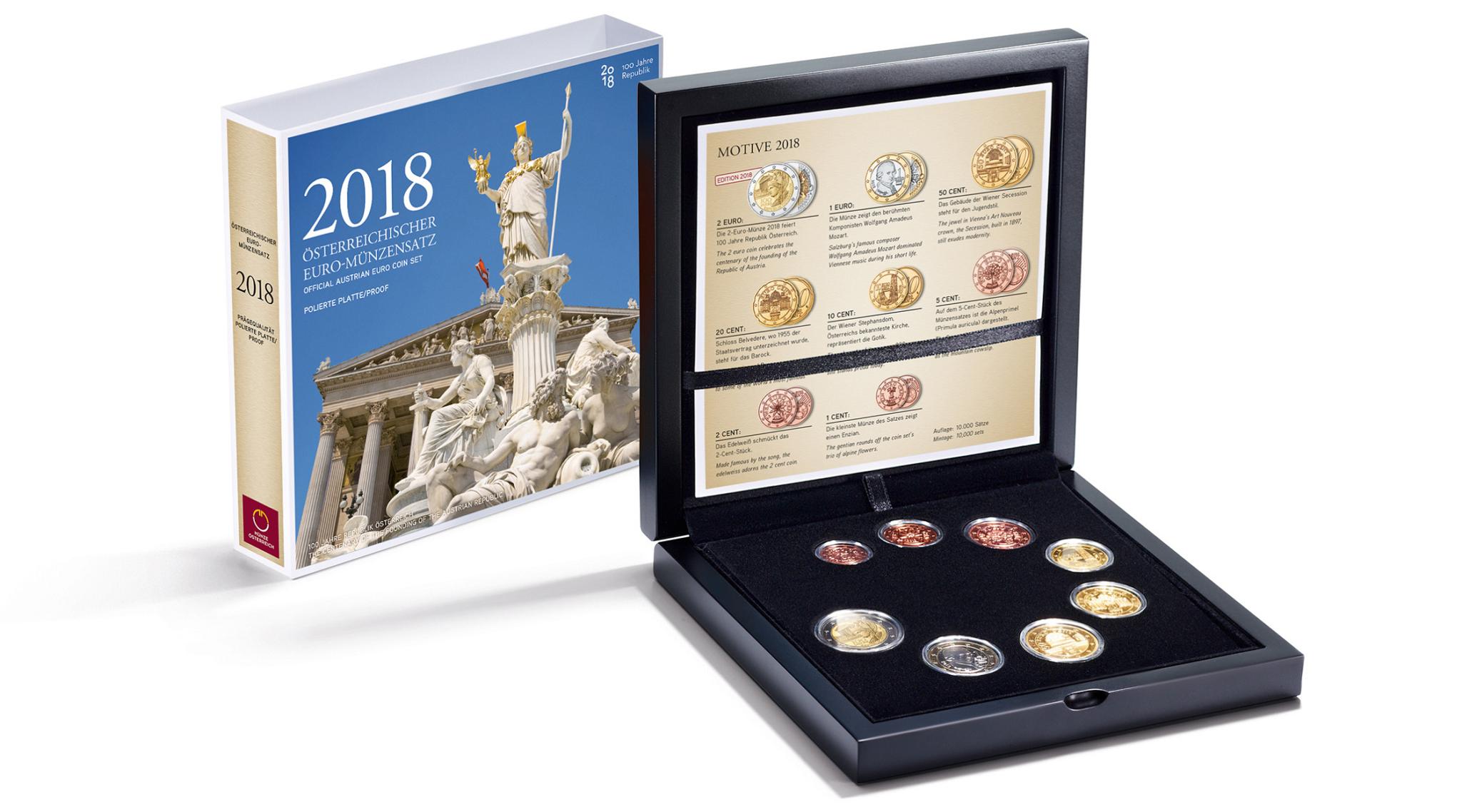 Coffret Be Autriche 2018 Elysées Numismatique