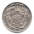 (W023.1000.1976.1.000000002) 10 Francs Baudouin 1976 Revers