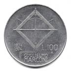 (W115.10000.1974.2.000000001) 100 Lire Guglielmo Marconi 1974 Revers
