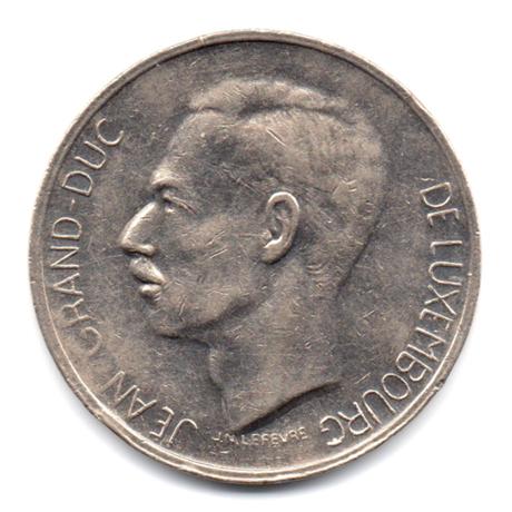 (W135.1000.1971.1.000000001) 10 Francs Grand-Duc Jean de Luxembourg 1971 Avers