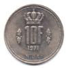(W135.1000.1971.1.000000001) 10 Francs Grand-Duc Jean de Luxembourg 1971 Revers