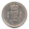 (W135.1000.1974.1.000000001) 10 Francs Grand-Duc Jean de Luxembourg 1974 Revers