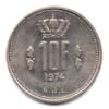 (W135.1000.1974.1.000000002) 10 Francs Grand-Duc Jean de Luxembourg 1974 Revers
