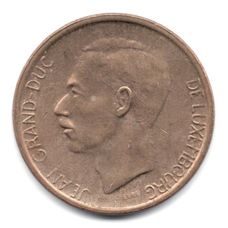(W135.2000.1981.1.000000001) 20 Francs Grand-Duc Jean de Luxembourg 1981 Avers