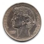 (W176.25.1977.1.000000001) 25 Escudos Liberté et Démocratie, petit module 1977 Avers
