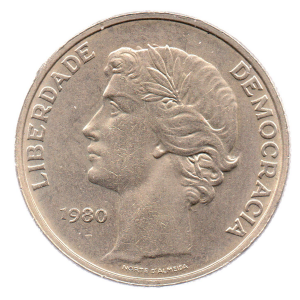 (W176.25.1980.1.000000001) 25 Escudos Liberty and Democracy, large diameter 1980 Obverse (zoom)