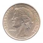 (W176.25.1982.1.000000001) 25 Escudos Liberté et Démocratie, grand module 1982 Avers