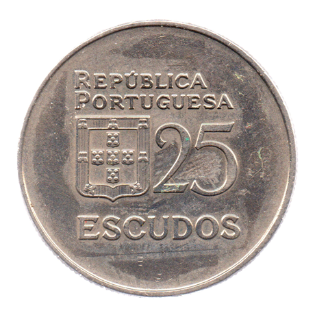 (W176.25.1982.1.000000002) 25 Escudos Liberté et Démocratie, grand module 1982 Revers