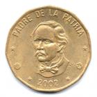 (W181.100.2002.1.000000001) 1 Peso Juan Pablo Duarte 2002 Avers