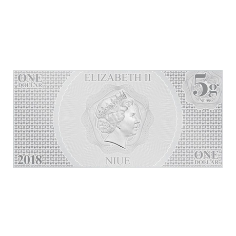1 dollar Niue 2018 5 grammes argent BU - Luke Skywalker Avers