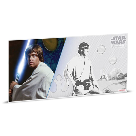 1 dollar Niue 2018 5 grammes argent BU - Luke Skywalker Revers