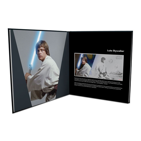 1 dollar Niue 2018 5 grammes argent BU - Luke Skywalker (album ouvert)