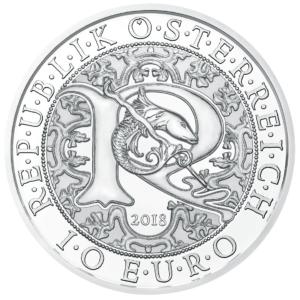 10 euro Autriche 2018 argent BU - Raphaël, ange guérisseur Avers (zoom)