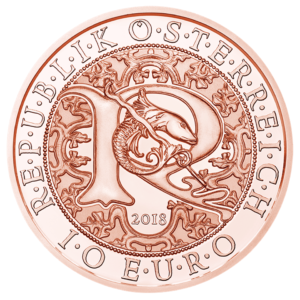 10 euro commemorative coin Austria 2018 - Raphael, the Healing angel Obverse (zoom)