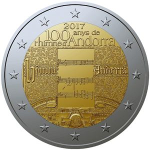 2 euro commémorative Andorre 2017 BU - Hymne national (zoom)