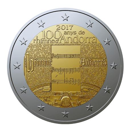 2 euro comm morative andorre 2017 bu hymne national elys es numismatique. Black Bedroom Furniture Sets. Home Design Ideas