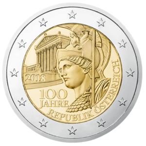 2 euro commemorative coin Austria 2018 - 100th anniversary of the Austrian Republic Obverse (zoom)