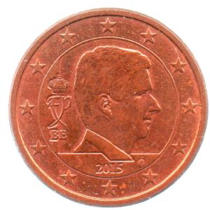 (EUR02.005.2015.0.sup.000000001) 5 cent Belgium 2015 Obverse (zoom)
