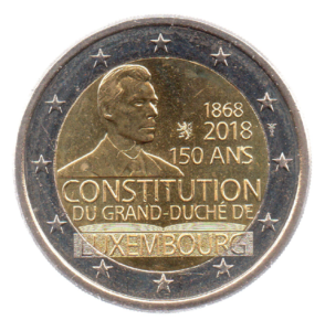 (EUR11.200.2018.COM1.spl.000000001) 150th anniversary of the Constitution of Luxembourg Obverse (zoom)