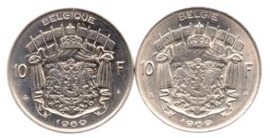 (LOT.W023.1000.1969.1.1.000000002) 10 Francs Baudouin 1969 (série des 2 légendes) Revers (zoom)