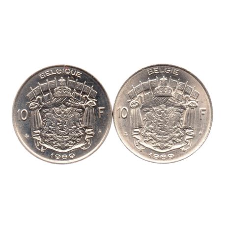 (LOT.W023.1000.1969.1.1.000000002) 10 Francs Baudouin 1969 (série des 2 légendes) Revers