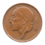 (W023.050.1969.2.2.ttb.000000001) 50 centimes Mineur, Petite tête 1969 - Légende flamande Avers