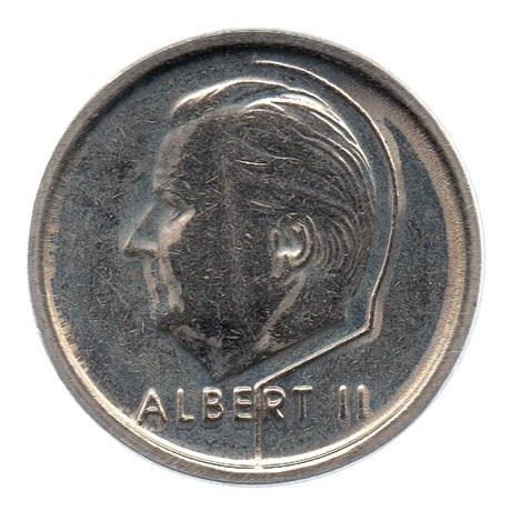 (W023.100.1994.1.1.sup.000000001) 1 Franc Albert II 1994 – Légende flamande Avers