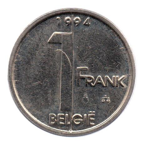 (W023.100.1994.1.1.sup.000000001) 1 Franc Albert II 1994 – Légende flamande Revers