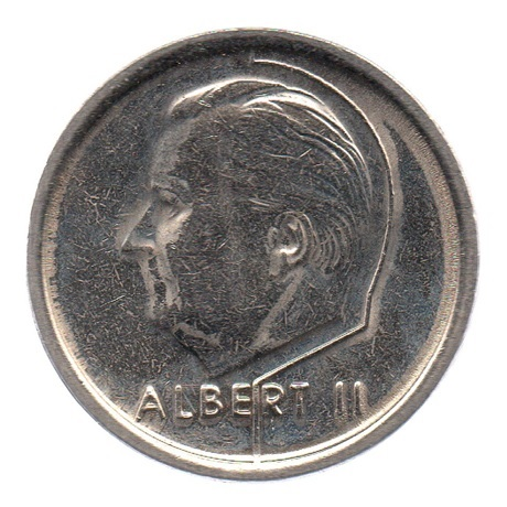 (W023.100.1994.1.1.ttb.000000001) 1 Franc Albert II 1994 – Légende flamande Avers