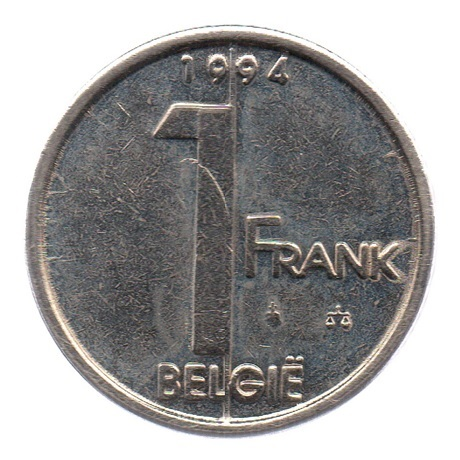 (W023.100.1994.1.1.ttb.000000001) 1 Franc Albert II 1994 – Légende flamande Revers