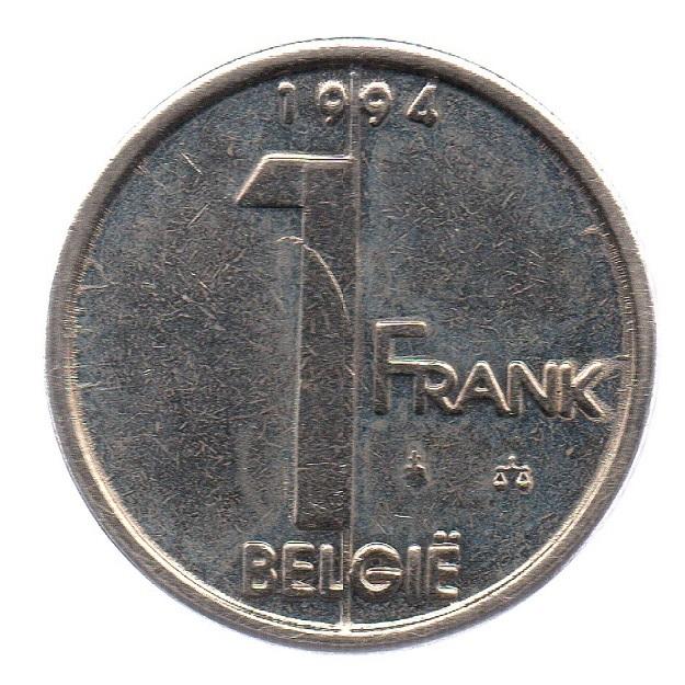 (W023.100.1994.1.1.ttb.000000001) 1 Franc King Albert II 1994 – Flemish legend Reverse (zoom)