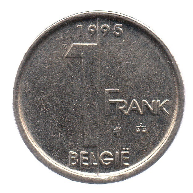 (W023.100.1995.1.1.sup.000000001) 1 Franc King Albert II 1995 – Flemish legend Reverse (zoom)