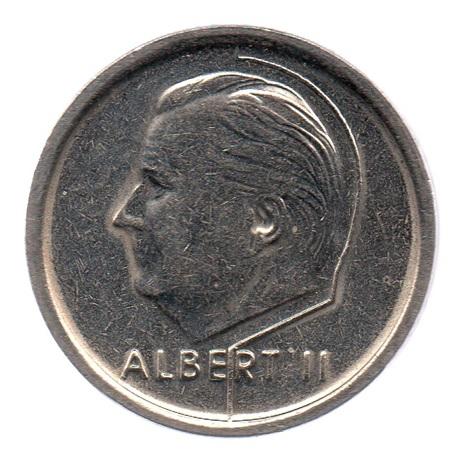 (W023.100.1995.1.1.ttb.000000001) 1 Franc Albert II 1995 – Légende flamande Avers